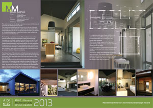 Residential interiors architectural design award