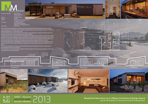 Residential new home up to 150sqm architectural design award