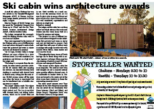 ski cabin wins architecture awards