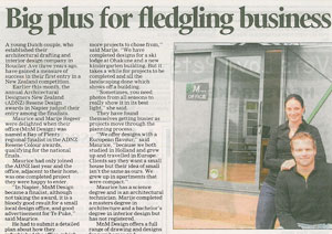 MnM design in the Te Puke Times nov 2012