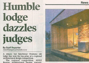 MnM design in the Wanganui Chronicle 2013